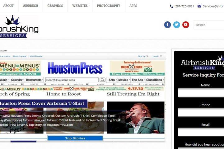 airbrushking-services-website-screenshot