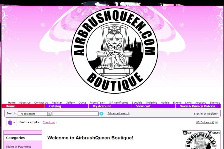 airbrushqueen-boutique-website-screenshot