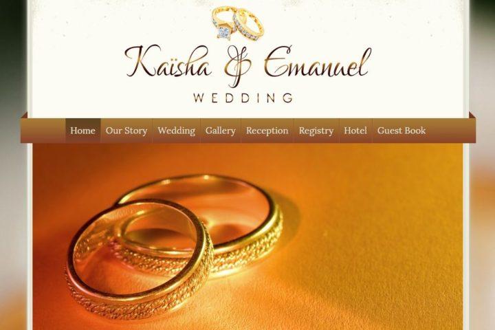 kaisha-emanuel-wedding-website-screenshot