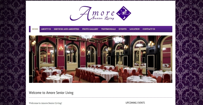 Amore Senior Living Website and Logo