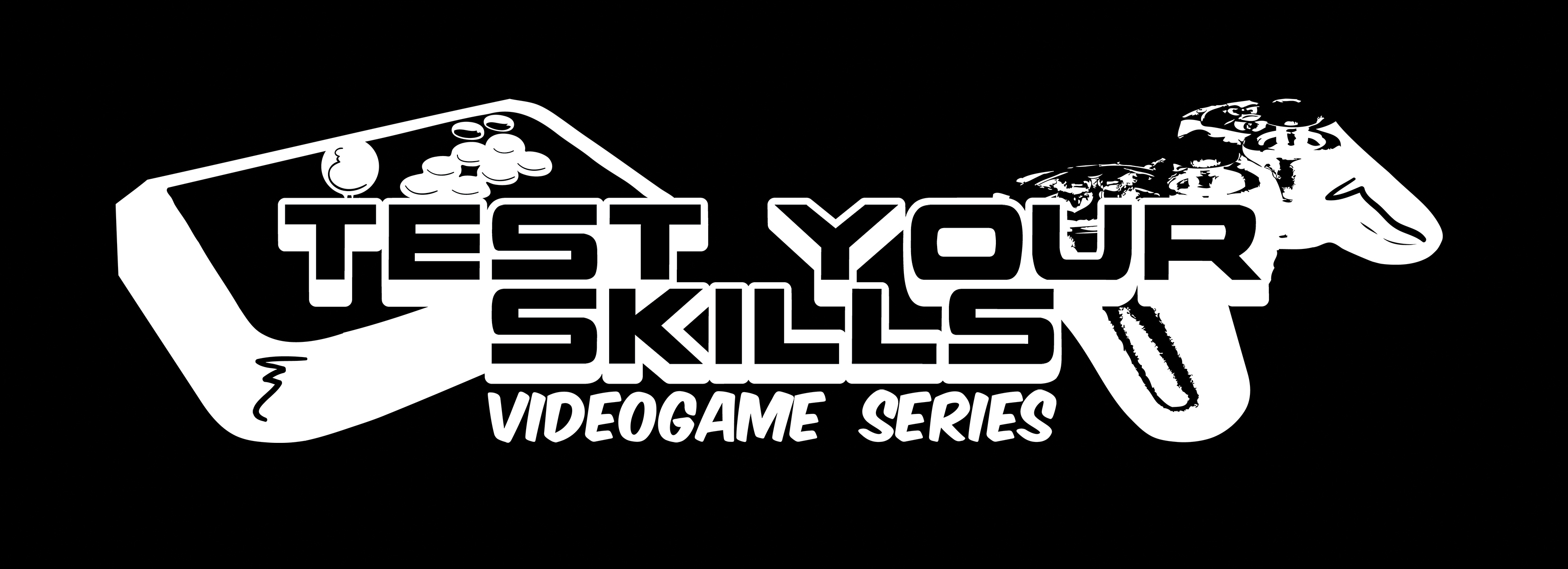 Test Your Skills  Black VideoGame logo