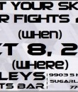 TYS Bar Fights 4 Tournament Section Flyer