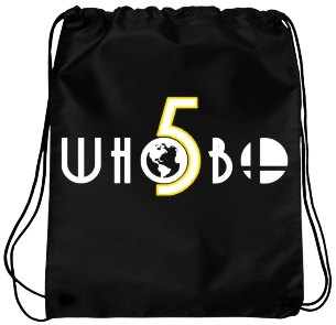 Whobo 5 Logo Bag Blk and Gold Outline